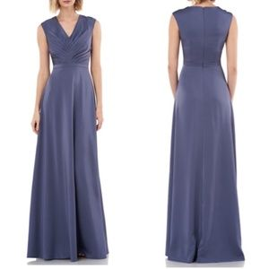 Kay Unger Lucille gown smoky blue size 2